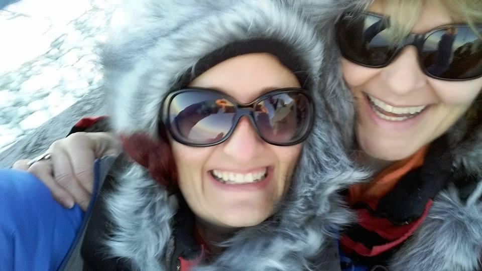 Tine und Clara 2015 in Lappland mit RINGANA